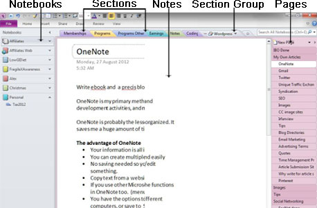 onenote section template emba ipad initiative an introduction to notebooks